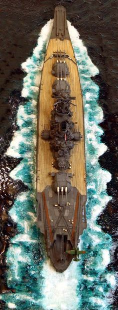 IJN Yamato 1/700 Scale Model Scale Model Ships, Scale Models, Yamato Class Battleship, Model Warships, Model Sailing Ships, Imperial Japanese Navy, Model Hobbies, Military Modelling, Military Diorama