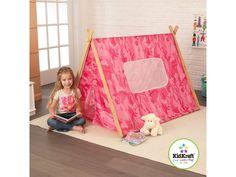 KidKraft Camo A-Frame Tent (Pink)