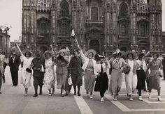 Dutch football supporters in Milan, 1934 World Cup New Year Images, Football, World Cup, 27 Mei, Dutch, Street View, Photo And Video, Random, San Siro Stadium