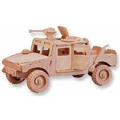 3-D Wooden Puzzle - Car Model H1 -Affordable Gift for your Little One! Item #DCHI-WPZ-P063
