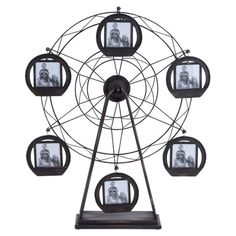 Offering a carnival of style, this Ferris wheel-inspired picture frame displays your favorite photos and family memories with a touch of winsome appeal.