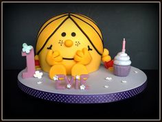 Little Miss Sunshine cake I need Little Miss Bossy! Pretty Cakes, Cute Cakes, Beautiful Cakes, Amazing Cakes, Sunshine Cake, Sunshine Birthday, Little Miss Sunshine, Miss Cake, Love Cake