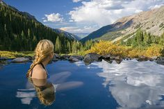 8.5-mile hike (one way) to Conundrum Hot Springs near Aspen. 5280's Colorado Bucket List