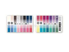 Karten-Farbpass Sommer-Winter mit 30 Farben