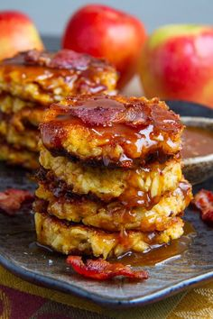Cheddar and Bacon Fritters in Caramel Sauce Use GF rice flour, Dijon mustard and bacon! Apple, Cheddar and Bacon Fritters in Caramel SauceUse GF rice flour, Dijon mustard and bacon! Apple, Cheddar and Bacon Fritters in Caramel Sauce Bacon Recipes, Apple Recipes, Cooking Recipes, Lard, Empanadas, The Fresh, Crepes, Breakfast Recipes, Breakfast Ideas