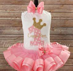 Traje de la princesa cumpleaños Tutu  incluye tapa Tutu