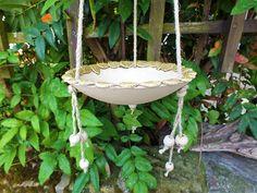 Gartendekoration - Vogeltränke Blätter Gartenkeramik Unikat Keramik - ein Designerstück von Terra-Cottage bei DaWanda