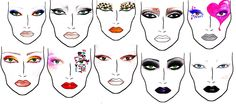 Make Up By Donna: FACE CHARTS