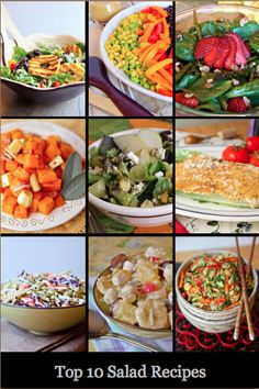 We have assembled our best salad recipes!  Theres a little bit of everything:  cold salads, warm salads, fruit salads, healthy salads, and Caesar salads.  They are healthy, colorful and flavorful.  Give one a try this week! Keep reading for all the recipes!   10)  Grilled Tropical Summer Salad 9)  Mexican Chopped Salad 8)  Roasted Asparagus [...]