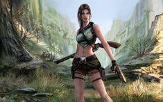 Tomb Raider Lara Croft Girl Gun Shotgun Game wallpaper   1920x1200 ...