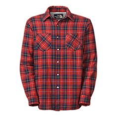 The North Face Men's TRAPPER FLANNEL JACKET - Large