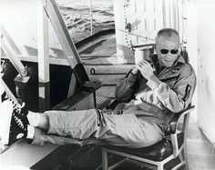 John Glenn relaxes after the flight of Friendship 7, which was on Feb. 20, 1962..  Former astronaut and U.S. Senator John Glenn died Thursday Dec. 8, 2016 at the Ohio State University Wexner Medical Center in Columbus. Glenn will always be remembered as the first American to orbit the Earth during those tentative, challenging, daring days when humans were just beginning to venture beyond the atmosphere that had nurtured them since the species began.