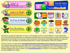 Starfall! A fun way to keep the kids learning this summer! FREE phonics, reading and math website for early learners. They now have More Starfall and an app for low-cost learning. #languagearts