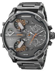 Shop for Diesel Men's Mr Daddy Dual Zone Chronograph Grey Dial Grey Stainless Steel Watch Get free delivery On EVERYTHING* Overstock - Your Online Watches Store! Diesel Mr Daddy Watch, Sport Watches, Cool Watches, Men's Watches, Diesel Watches For Men, Latest Watches, Amazing Watches, Dream Watches, Modern Watches