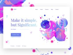 35+ Clean and Creative Website Design ideas for Inspiration    clean and minimal header Ui design idea