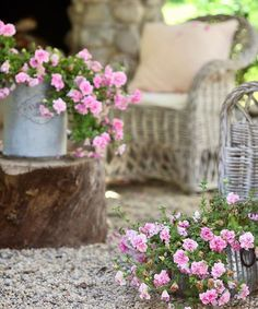 Shabby Chic Garden, Vintage Garden Decor, French Country Cottage, Country Chic, French Decor, French Country Decorating, Wall Trellis, Outdoor Areas, Fresh Flowers