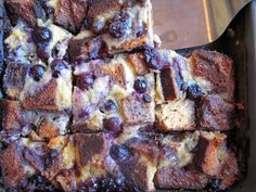 Blueberry and Chocolate Chip Bread Pudding #justeatrealfood #paleomg