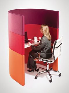 curved study booths