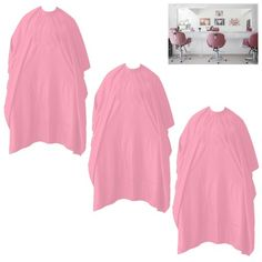 Set of 3 Hair Cutting Cape Salon Hairdressing Apron Barber Cloth Pink Gown Shampoo New ! Salon Aprons, Pink Salon, Hair And Beauty Salon, Pink Gowns, Pink Hair, Hairdresser, Barber, Your Hair, Salons