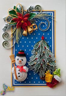 Neli is a talented quilling artist from Bulgaria. Her unique quilling cards bring joy to people around the world. Neli Quilling, Paper Quilling Cards, Quilling Work, Paper Quilling Designs, Quilling Paper Craft, Quilling Patterns, Quilling Christmas, Christmas Crafts, Christmas Tree