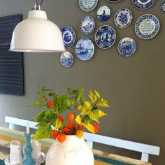 Delfts blauw icm groene muur is verrassend