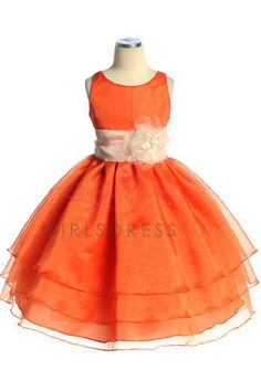 Tangerine Flower Girl Dresses