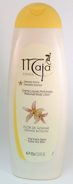 Maja Perfumed Body Lotion Extra Dry Skin 13.5 oz. 2-PACK Flor De Azahar/Orange Blossom >>> See this great product. (This is an Amazon Affiliate link and I receive a commission for the sales) Orange Blossom, Body Wash, Body Lotion, Dry Skin, Flora, Perfume, Amazon, Link, Riding Habit