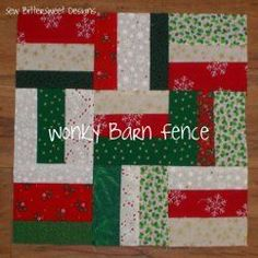 Wonky Barn Fence Block | FaveQuilts.com