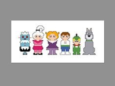 The Jetsons Pixel People Character Cross Stitch by CheekySharkLabs