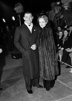 Clark Gable and Carole Lombard arriving for the Greek War Relief show in Hollywood, California, 1941