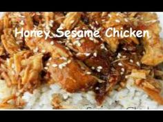 For dinner this week for sure: Slow Cooker Honey Sesame Chicken Recipe. Fast, Easy and so Delicious! Think Food, I Love Food, Great Recipes, Dinner Recipes, Favorite Recipes, Delicious Recipes, Sunday Recipes, Fast Recipes, Healthy Recipes