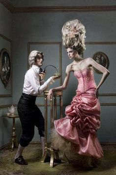 Devilinspired Rococo Clothing: Alternative Rococo Hairstyle for Women