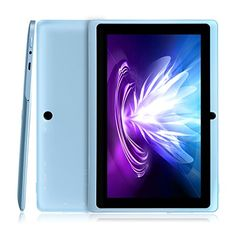 Dragon Touch Y88X Plus 7'' Quad Core Google Android 4.4 KitKat Tablet PC, IPS Display, HD Screen 1024 x 600, 8 GB, Bluetooth, Dual Camera, Netflix, Skype, 3D Game Supported - Sky Blue - An Enhanced Version Following the Y88 and Y88X model, here comes the 3rd Generation, Y88X Plus. This tablet equips with new features like IPS display, Bluetooth, and higher megapixel camera, making sharing and communication a breeze. Additionally, there are new gorgeous colors for your... - ht