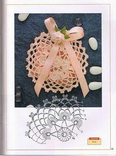 - Diversamente Crochet By MaryRose Crochet Snowflake Pattern, Crochet Motifs, Crochet Snowflakes, Crochet Doilies, Crochet Flowers, Crochet Stitches, Crochet Patterns, Crochet Coin Purse, Crochet Pouch