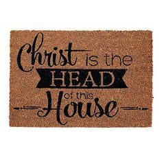 Christ is the Head of This House Door Mat 24 x 16 * See this great product.