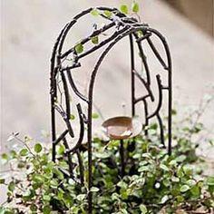 Iron Wildewood Arbor for Miniature Fairy Garden Real Plants, Air Plants, Flower Planters, Garden Planters, Create A Fairy, Fairy Garden Supplies, Garden Trellis, Garden Arbor, Miniature Fairy Gardens