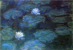 Water Lilies - Claude Monet  Saw the real thing in Paris.  A whole room of Monet's water Lilies.   Thrilling.