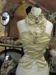 Dress Form for displaying vintage finds - and holding old costume jewellry!
