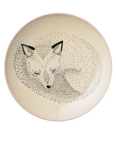 Plate Adelynn Fox by bloomingville