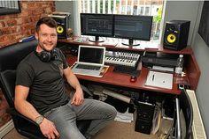 Calum Scott in the home studio.