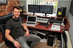 Calum Scott in the home studio.