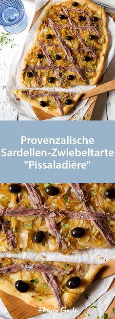 """Provenzalische Sardellen-Zwiebeltarte """"Pissaladière"""""""