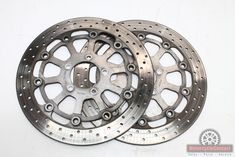 96 97 98 99 00 GSXR 600 750 SRAD FRONT BRAKE ROTORS ROTOR OEM LEFT RIGHT DISCS Gsxr 600, Brake Rotors, Front Brakes, Motorcycle Parts, Oem, Stuff To Buy