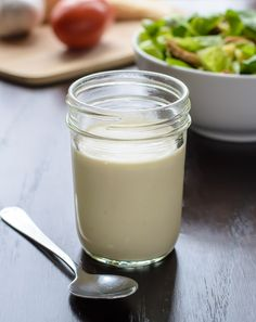 Homemade Caesar Dressing. Easy recipe with no eggs