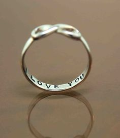 I Love You Infinity Ring ♡