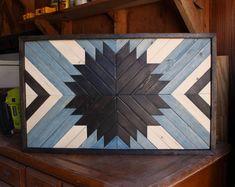 Arte moderno madera, arte de pared de madera, arte geométrico de madera, arte de pared de madera reciclada, regalos de boda, rústico Home Decor, Casa Decor, arte de pared rústico