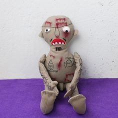 GG Allin portrait doll from fabric with all tattoos and scars MADE TO ORDER   You can order your own cool portrait doll