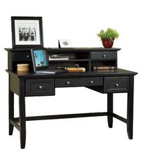 Send emails, pen invitations, and scrapbook in style at this classic writing desk, offering multiple drawers and shelves for stashing your office essentials ...