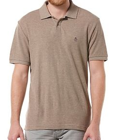Daddy-O Polo from Original Penguin in Pine Bark. $55