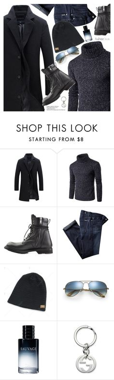 """Casual Men"" by pokadoll ❤ liked on Polyvore featuring 7 For All Mankind, Ray-Ban, Christian Dior, Gucci, men's fashion, menswear, polyvoreeditorial and polyvoreset"